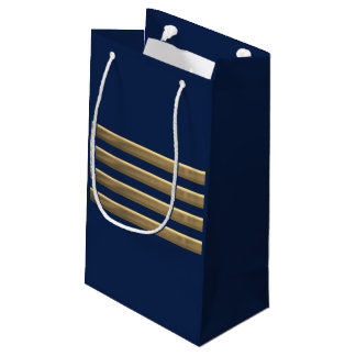 Captain gold stripes small gift bag