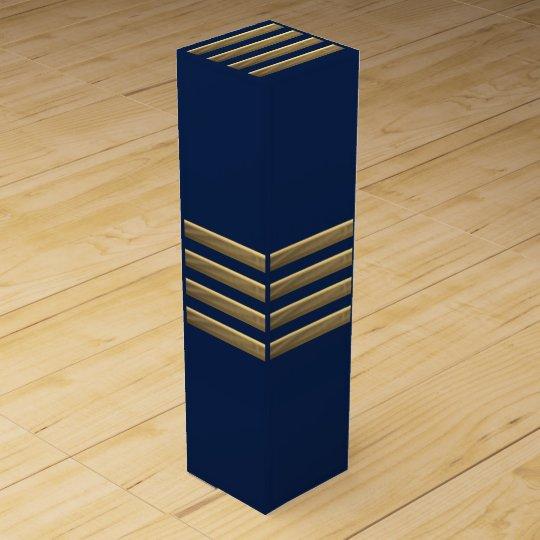 Captain gold stripes wine gift box