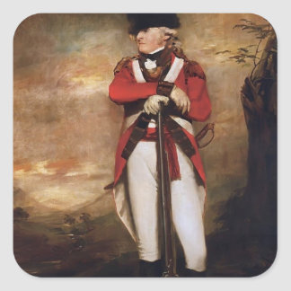 Captain Hay of Spot by Henry Raeburn Square Sticker