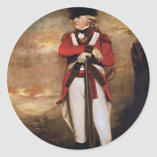 Captain Hay of Spot by Henry Raeburn Classic Round Sticker