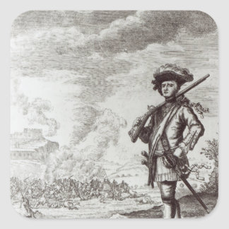 Captain Henry Morgan at the sack Square Sticker