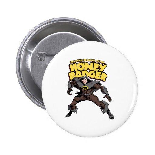 Captain Honey Badger Don't Care Button