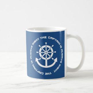 Captain is always right basic white mug
