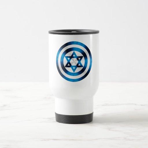 Captain Israel Hero Shield Coffee Mugs