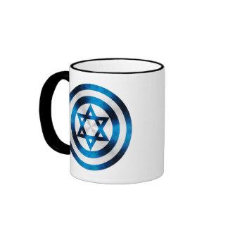 Captain Israel Hero Shield Ringer Coffee Mug