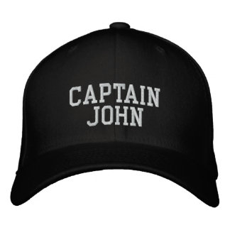 Captain John Embroidered Hat