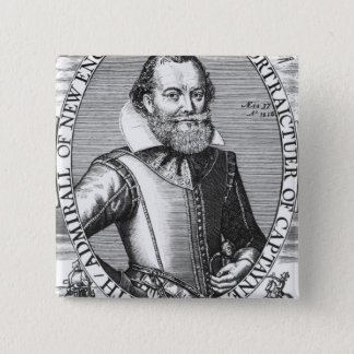 Captain John Smith  1st Governor of Virginia 15 Cm Square Badge