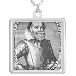 Captain John Smith  1st Governor of Virginia Silver Plated Necklace
