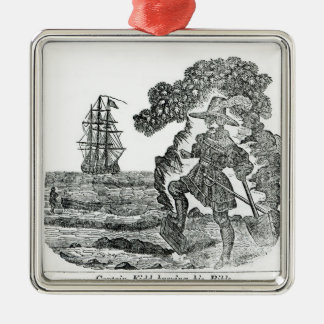 Captain Kidd Burying His Bible, illustration Christmas Ornament