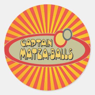 Captain MATZA BALLS Classic Round Sticker