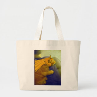 Captain Me-Ow Large Tote Bag