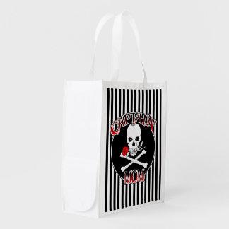 Captain Mom Reusable Grocery Bag