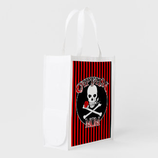 Captain Mom (Rose)Reusable Grocery Bag