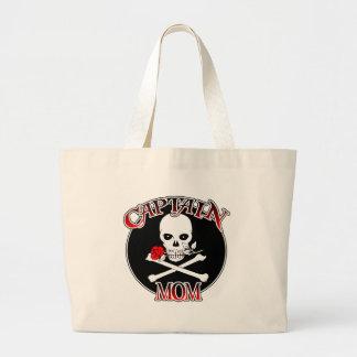 Captain Mom (Rose)Tote Jumbo Tote Bag