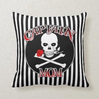 Captain Mom Throw Pillow