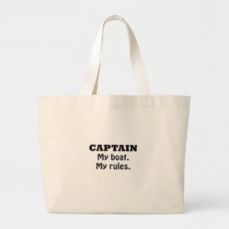 Captain My Boat My Rules Jumbo Tote Bag