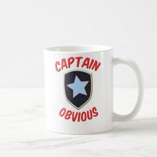 Captain Obvious Basic White Mug