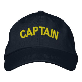 Captain of a boat or sporting team embroidered baseball caps