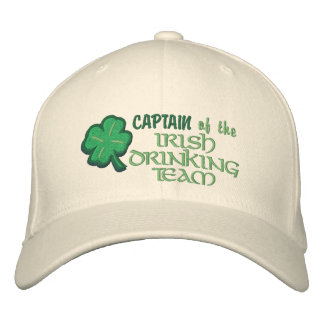 Captain of the Irish Drinking Team Funny Embroidered Hats