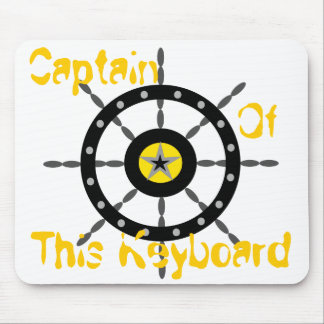 Captain of This Keyboard Mouse Mat