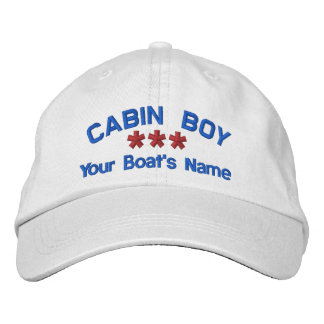 CAPTAIN Personalized Name Custom WHITE RED BLUE Embroidered Hats