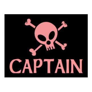 Captain Pink Skull Postcards