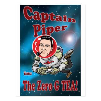 Captain Piper in ZERO G TEA! Postcard