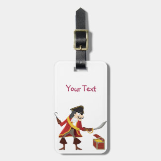 Captain pirate luggage tag