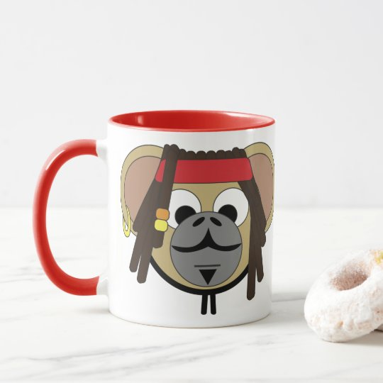 Captain Pirate Monkey Jack Jungle Cartoon Animal Mug