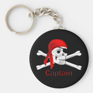 Captain Pirate Skull & Crossbones Keychain 2