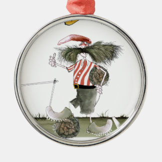 captain red white stripes christmas ornament