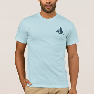 Captain Sailor Name Template Mens Blue T-Shirt