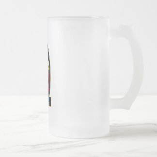Captain Scotland Frosted Glass Mug