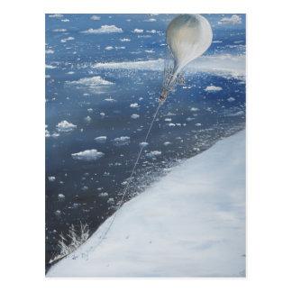 Captain Scott Antarctica's first Aeronaut. 4th Postcard