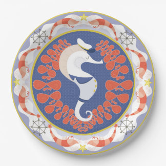 captain sea horse plate