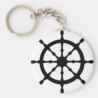 captain ship steering wheel key ring