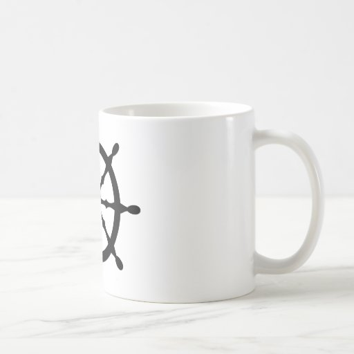 captain ship steering wheel mugs