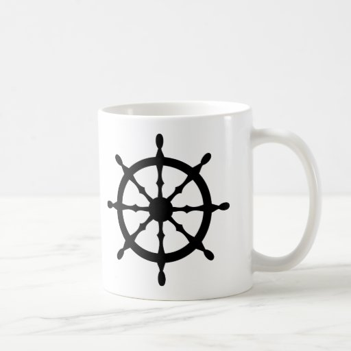 captain ship steering wheel coffee mugs