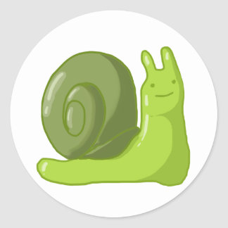 Captain Snail Round Stickers