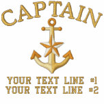 Captain Star Anchor Your Boat Name Your Name Embroidered Fleece Jogger Jacket