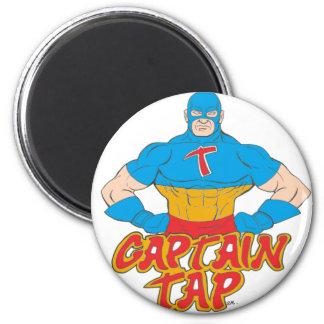 Captain Tap! 6 Cm Round Magnet