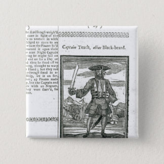 Captain Teach, Alias Black Beard 15 Cm Square Badge