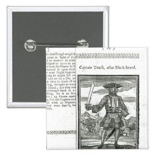 Captain Teach, Alias Black Beard 15 Cm Square Badge