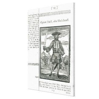 Captain Teach, Alias Black Beard Canvas Print