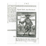 Captain Teach, Alias Black Beard Postcard