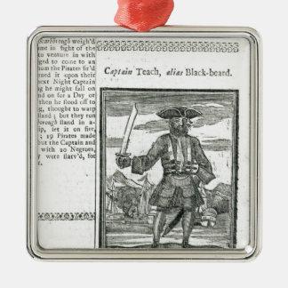 Captain Teach, Alias Black Beard Silver-Colored Square Decoration