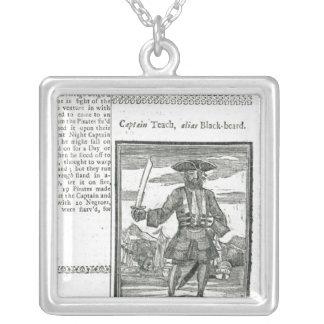 Captain Teach, Alias Black Beard Silver Plated Necklace