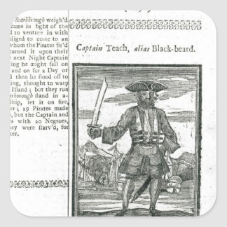 Captain Teach, Alias Black Beard Square Sticker