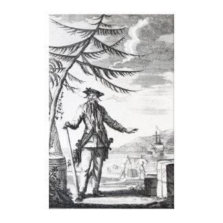 Captain Teach, commonly called Blackbeard Canvas Print