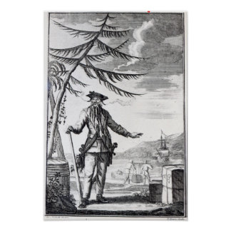 Captain Teach commonly called Blackbeard Print